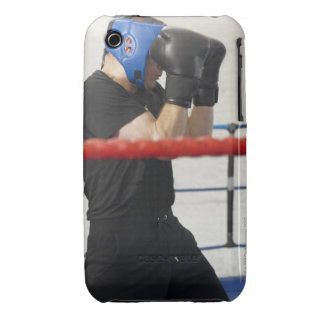 Boxer covering his face in ring iPhone 3 case