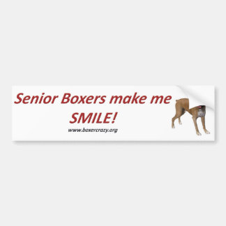 Boxer Crazy Bumpersticker - Senior Car Bumper Sticker