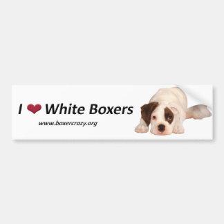 Boxer Crazy Bumpersticker - White Car Bumper Sticker