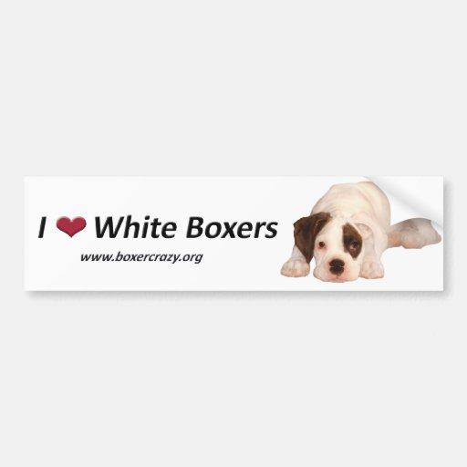 Boxer Crazy Bumpersticker - White Bumper Stickers