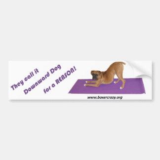 Boxer Crazy Bumpersticker - Yoga Car Bumper Sticker
