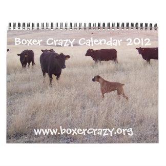 Boxer Crazy Calendar 2012