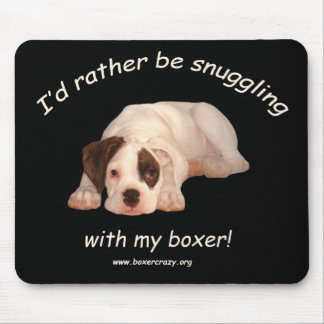 Boxer Crazy Mousepad - White