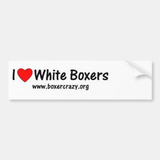 Boxer Crazy White Bumper Sticker - DYO Car Bumper Sticker