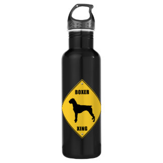 Boxer Crossing (XING) Sign 24oz Water Bottle
