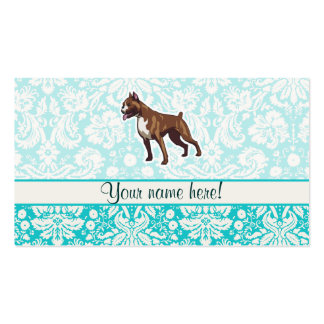 Boxer; Cute Double-Sided Standard Business Cards (Pack Of 100)