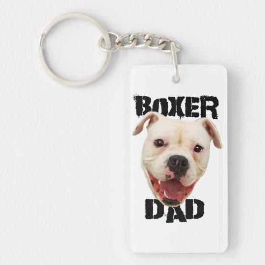 Boxer Dad Dog Keychain