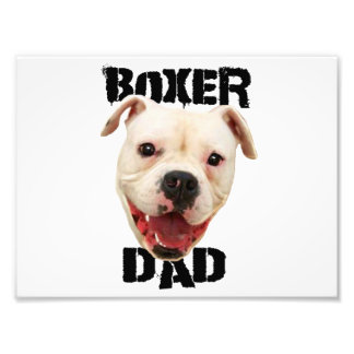 Boxer Dad dog Photographic Print