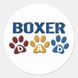 BOXER DAD Paw Print 1 Sticker