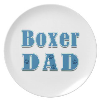 Boxer Dad Party Plate