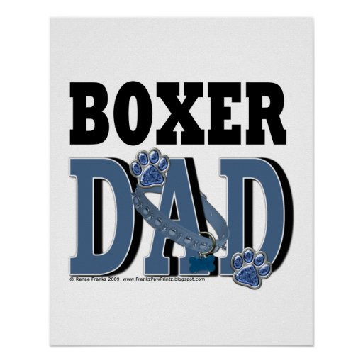 Boxer DAD Posters