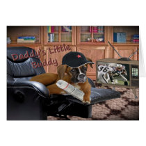 "Boxer ""Daddy's Little Buddy"" Greeting Cards"