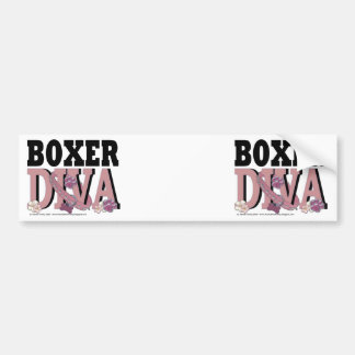 Boxer DIVA Car Bumper Sticker