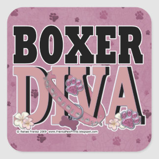 Boxer DIVA Square Sticker