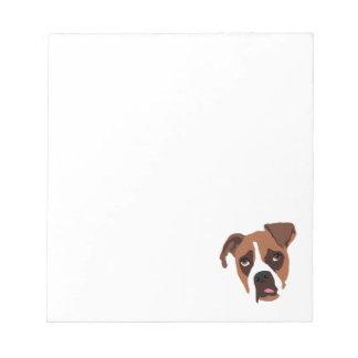 """Boxer Dog 5.5"""" x 6"""" Notepad"""