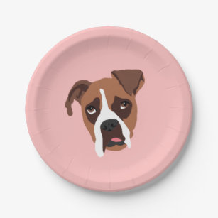 Boxer Dog 7  Paper Plates  sc 1 st  Zazzle & Boxer Dog Plates | Zazzle