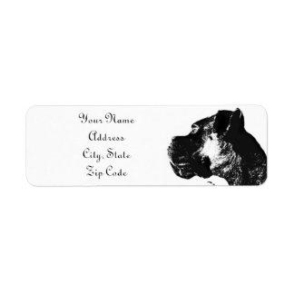 Boxer Dog Address Label