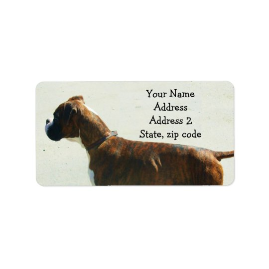 boxer dog address labels zazzle com