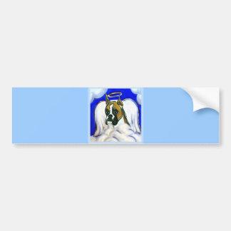Boxer dog angel bumper sticker