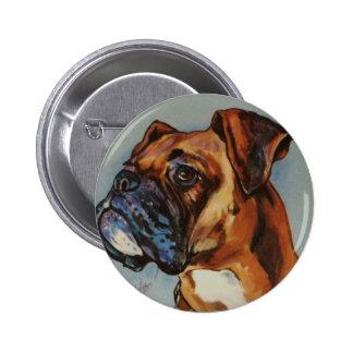 BOXER DOG ARTS 2 INCH ROUND BUTTON