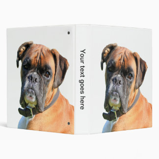Boxer dog beautiful photo album, binder, folder
