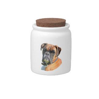 Boxer dog beautiful photo portrait candy dish