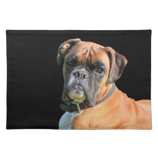 Boxer dog beautiful photo portrait cloth placemat