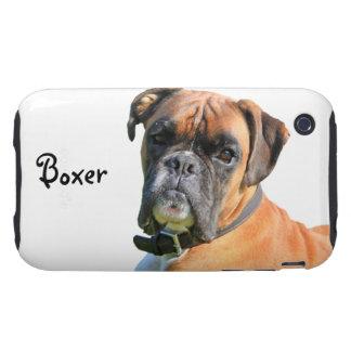Boxer dog beautiful photo portrait custom tough iPhone 3 case