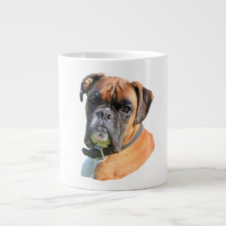 Boxer dog beautiful photo portrait large coffee mug