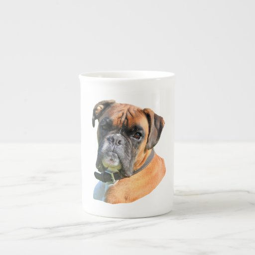 Boxer dog beautiful photo portrait porcelain mug