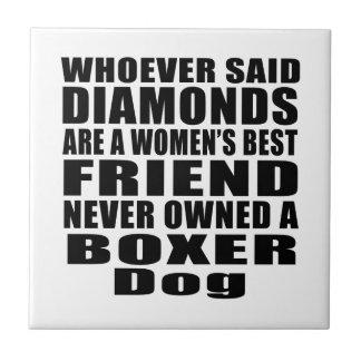 BOXER DOG BEST FRIEND DESIGNS TILE
