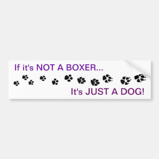 Boxer Dog Bumper Sticker