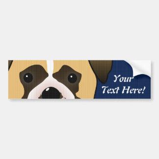 Boxer Dog Car Bumper Sticker