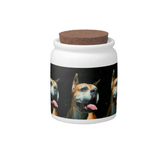 Boxer Dog Candy Jars