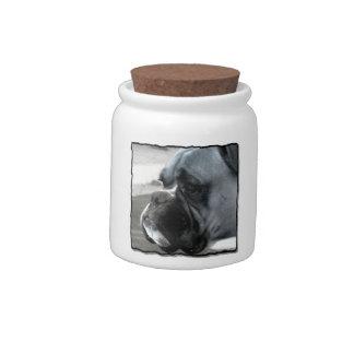 Boxer dog Candy Jar