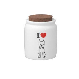 Boxer Dog Cartoon Candy Jars