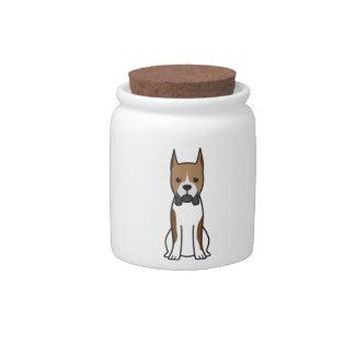 Boxer Dog Cartoon Candy Jar