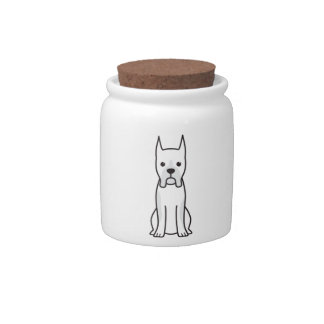 Boxer Dog Cartoon Candy Dishes