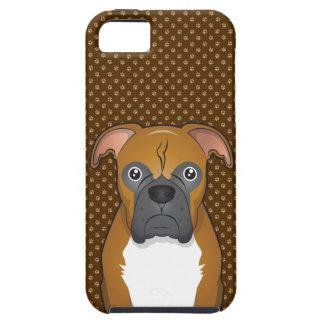 Boxer Dog Cartoon Paws iPhone SE/5/5s Case