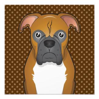 Boxer Dog Cartoon Paws Photo Print