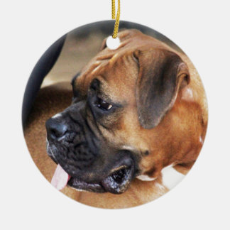 Boxer Dog Ceramic Ornament