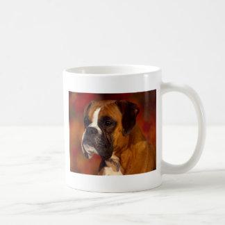 Boxer dog classic white coffee mug