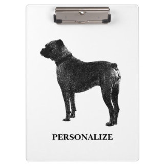 Boxer dog clipboard   Personalized text and photo