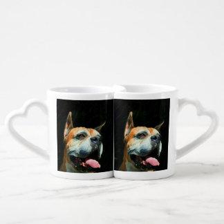 Boxer Dog Coffee Mug Set
