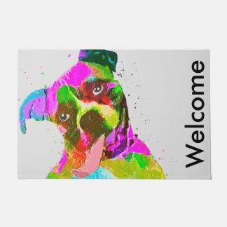 Boxer Dog Colorful Pop Art Doormat