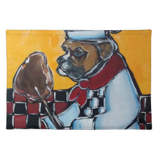 BOXER DOG COOK CLOTH PLACEMAT