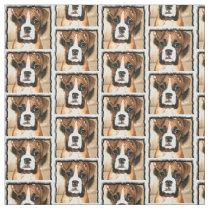 Boxer dog Custom Fabric