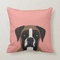 Boxer dog custom pet portrait pillow for dog owner