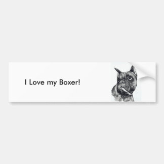 Boxer Dog Cuteness Bumper Sticker