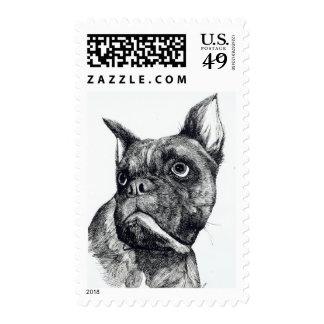 Boxer Dog Cuteness Stamp